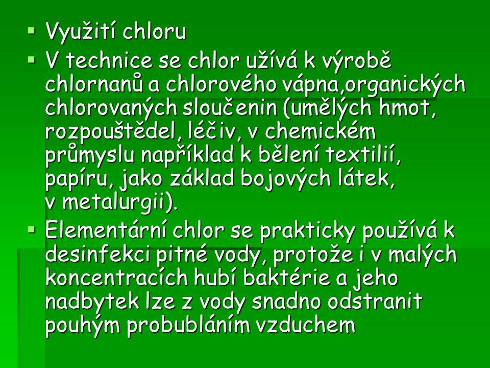 Využití chloru