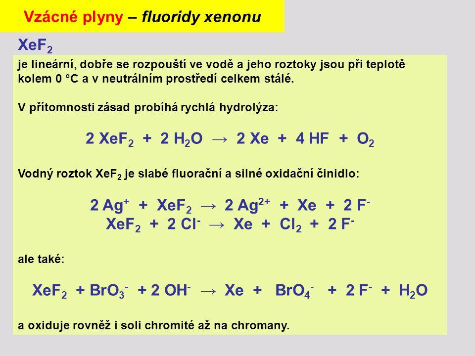 Vzácné plyny – fluoridy xenonu