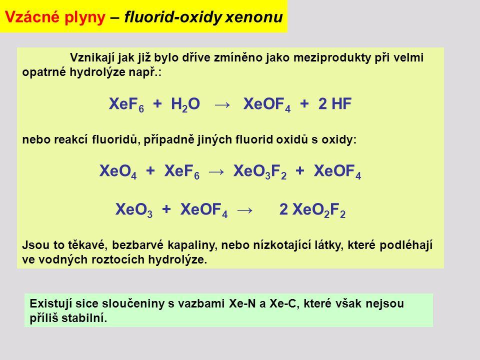 Vzácné plyny – fluorid-oxidy xenonu