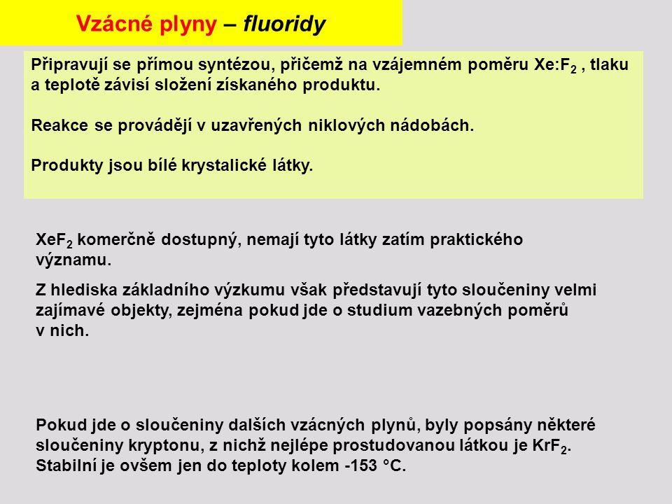 Vzácné plyny – fluoridy