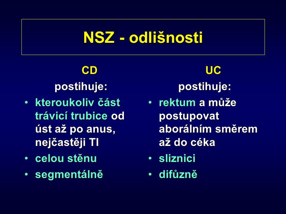 NSZ - odlišnosti CD postihuje: