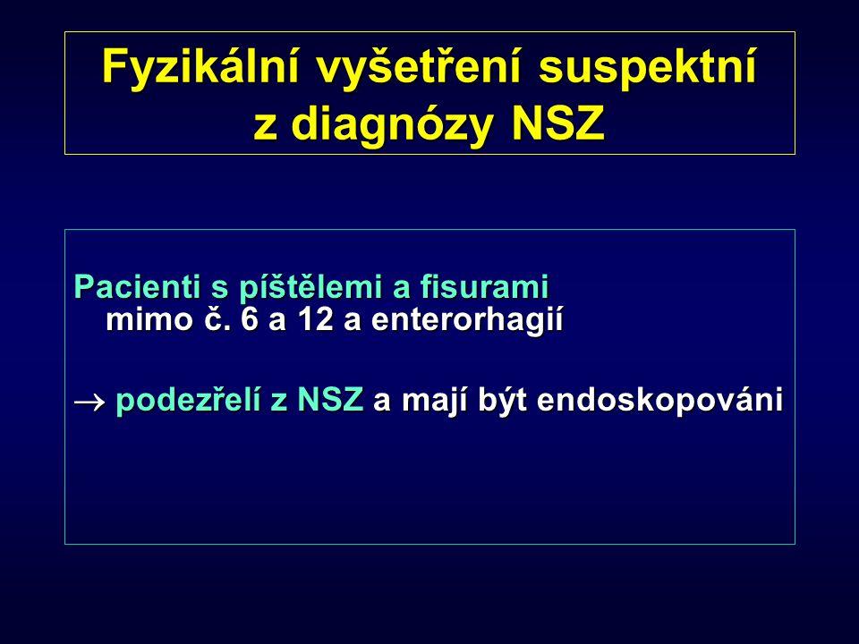 Fyzikální vyšetření suspektní z diagnózy NSZ