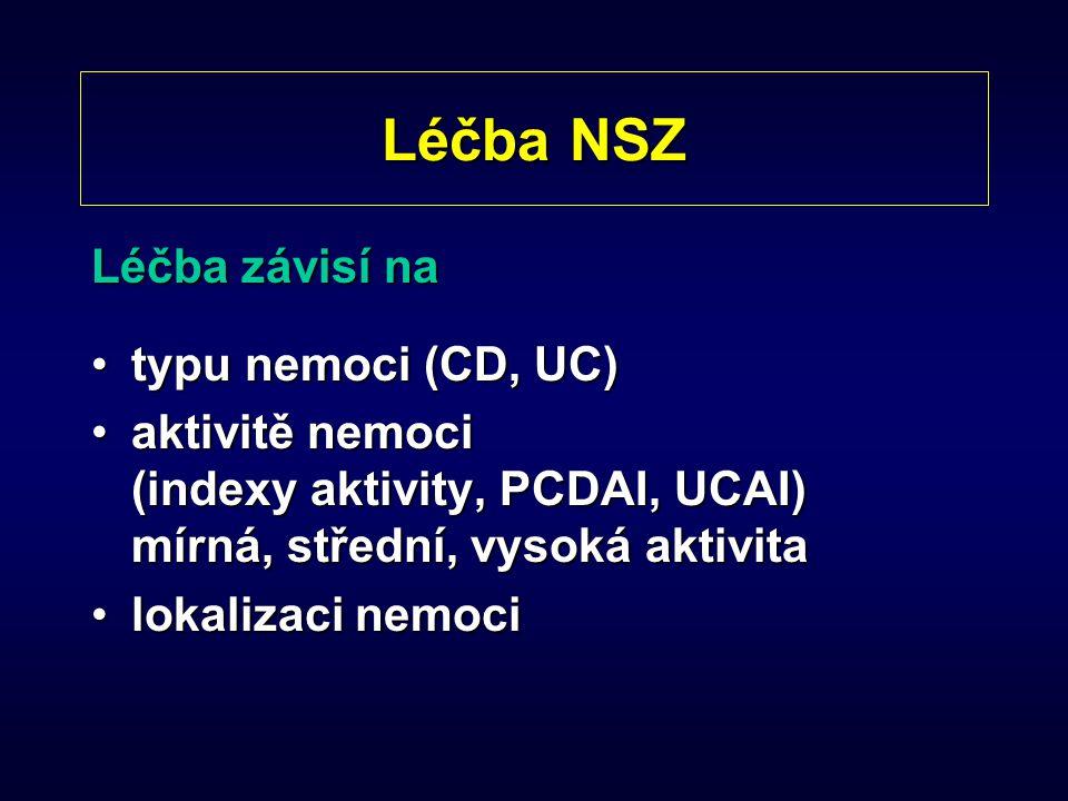 Léčba NSZ Léčba závisí na typu nemoci (CD, UC)