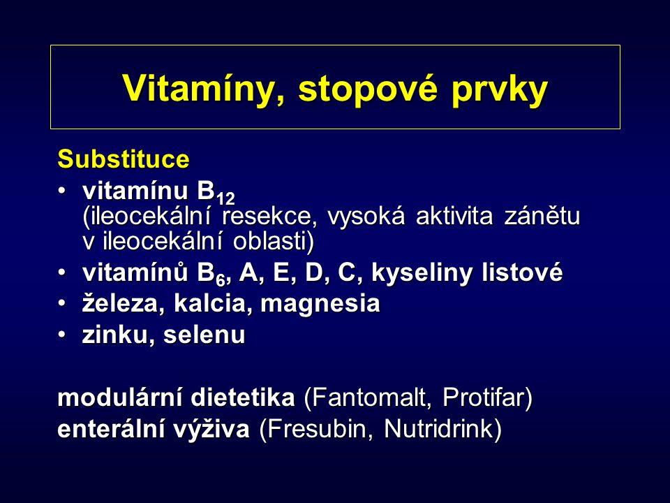 Vitamíny, stopové prvky