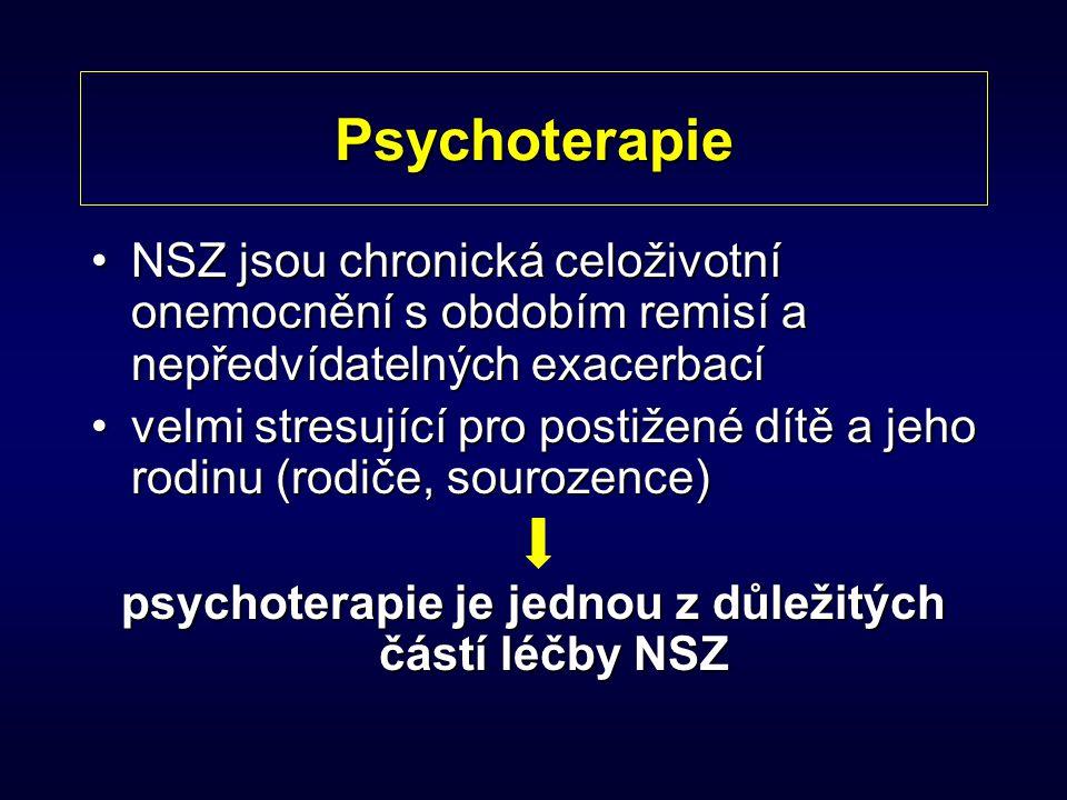 psychoterapie je jednou z důležitých částí léčby NSZ
