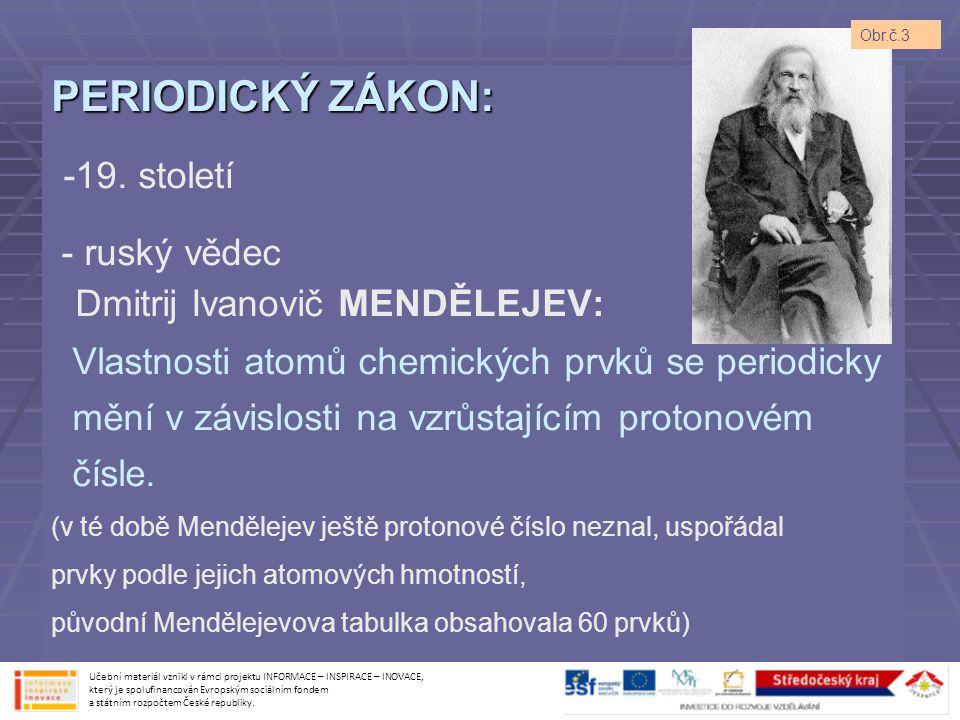 Dmitrij Ivanovič MENDĚLEJEV: