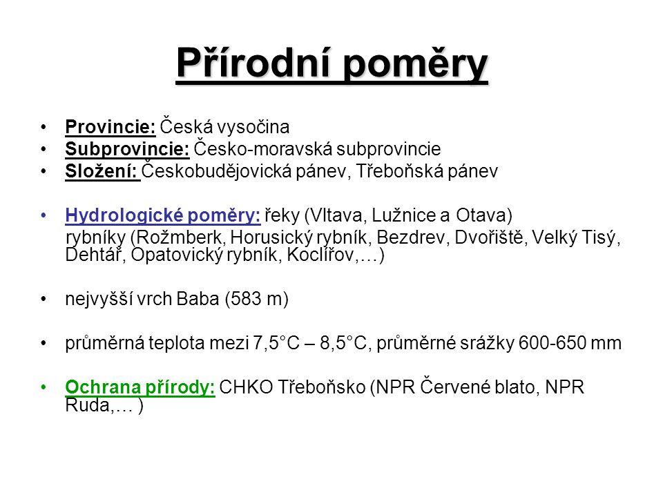 Přírodní poměry Provincie: Česká vysočina