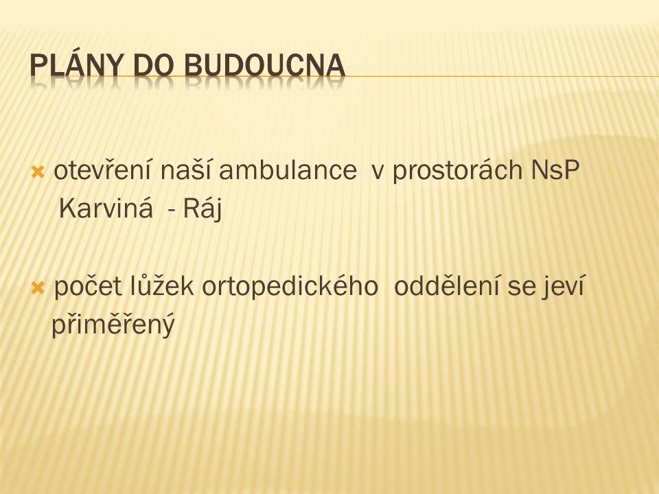 Plány do Budoucna otevření naší ambulance v prostorách NsP