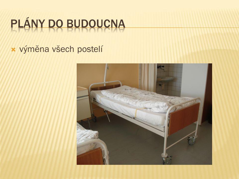 Plány do budoucna výměna všech postelí