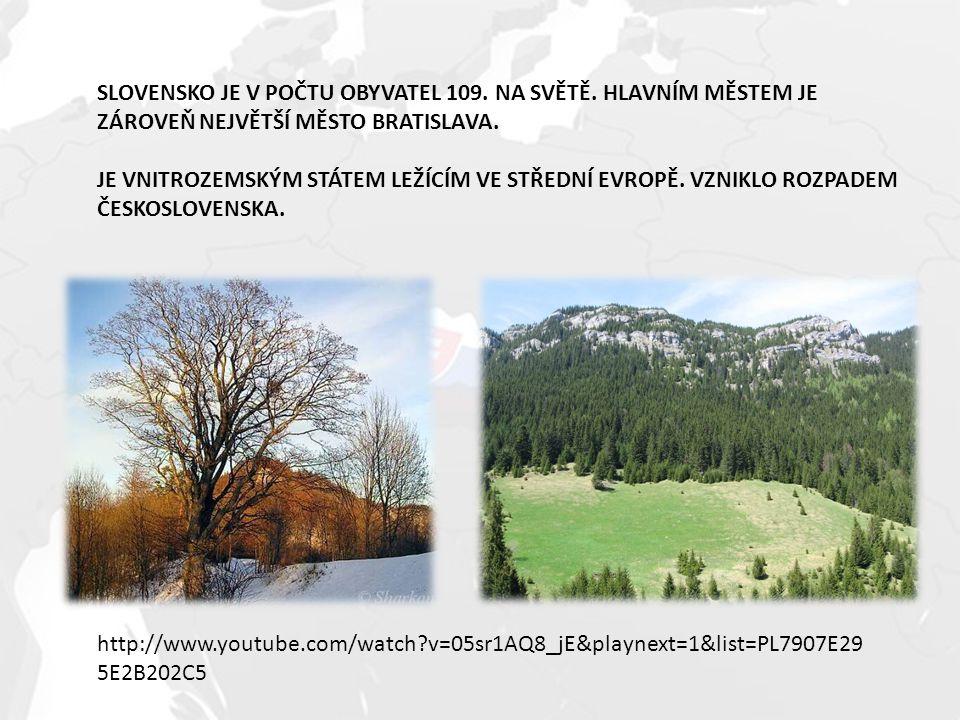 SLOVENSKO JE V POČTU OBYVATEL 109. NA SVĚTĚ