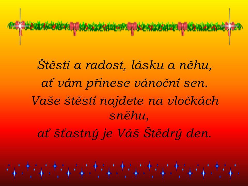 Štěstí a radost, lásku a něhu, ať vám přinese vánoční sen.