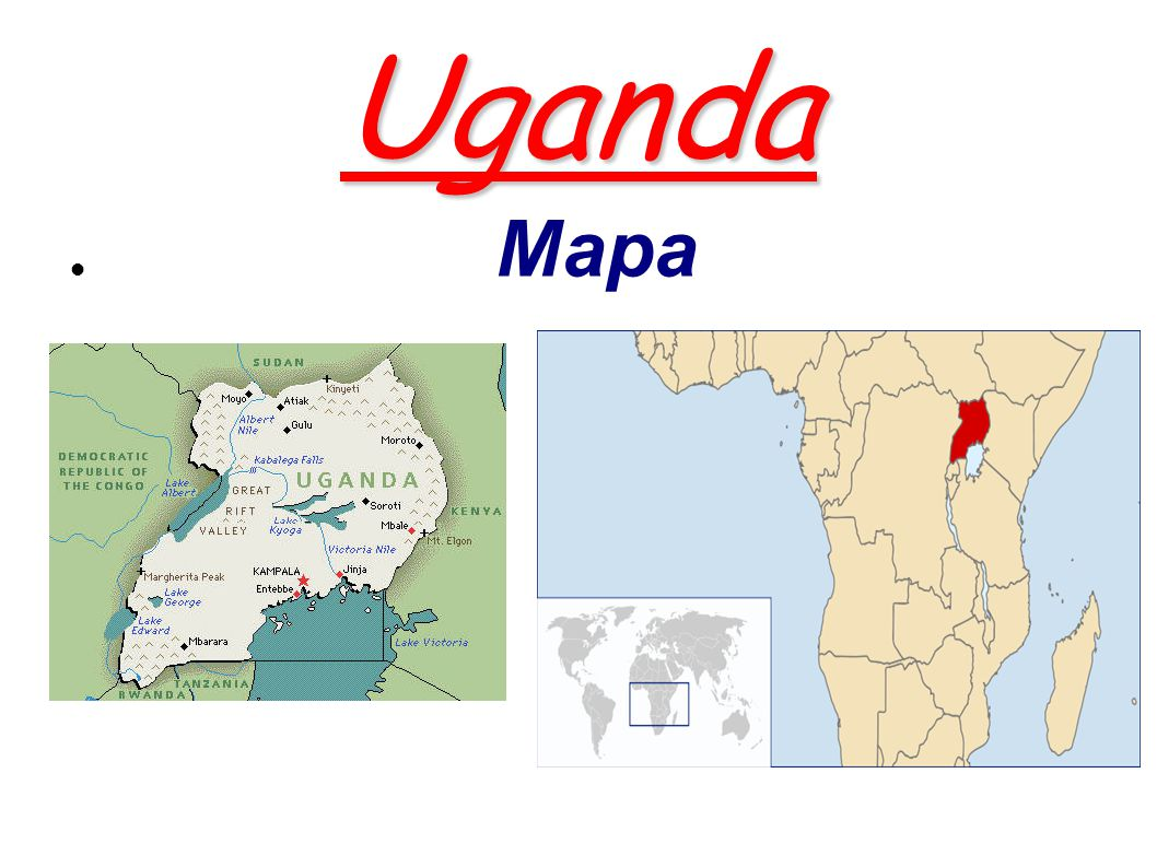 Uganda Mapa