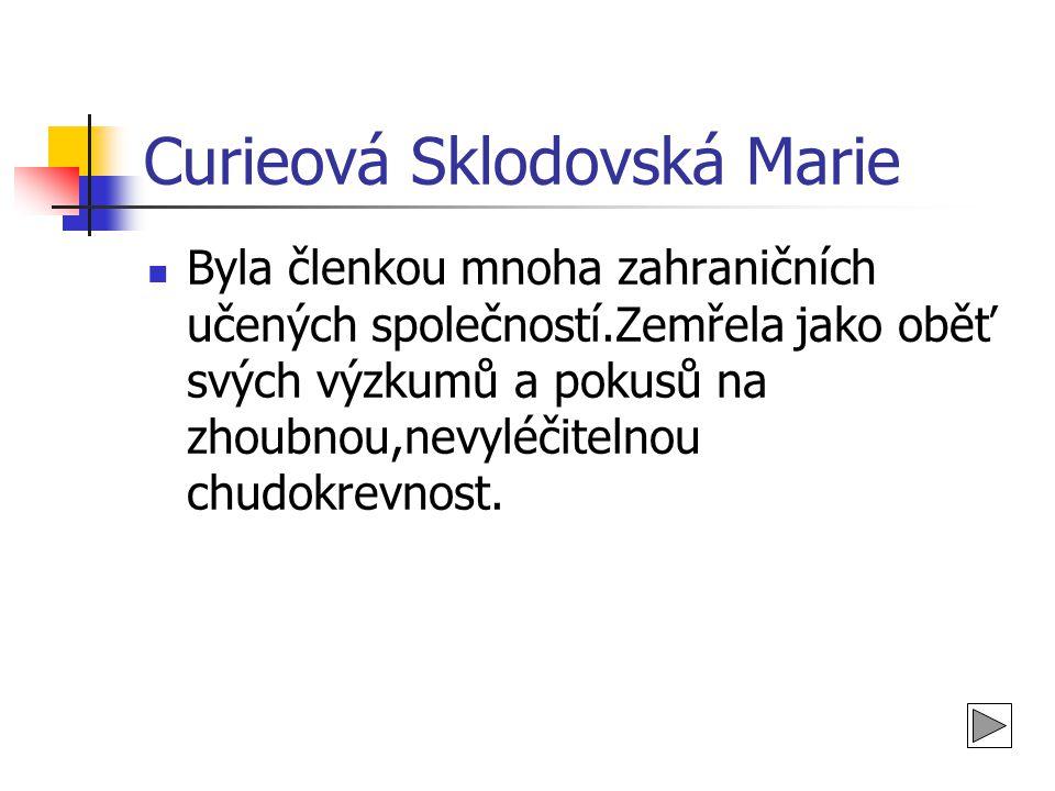 Curieová Sklodovská Marie