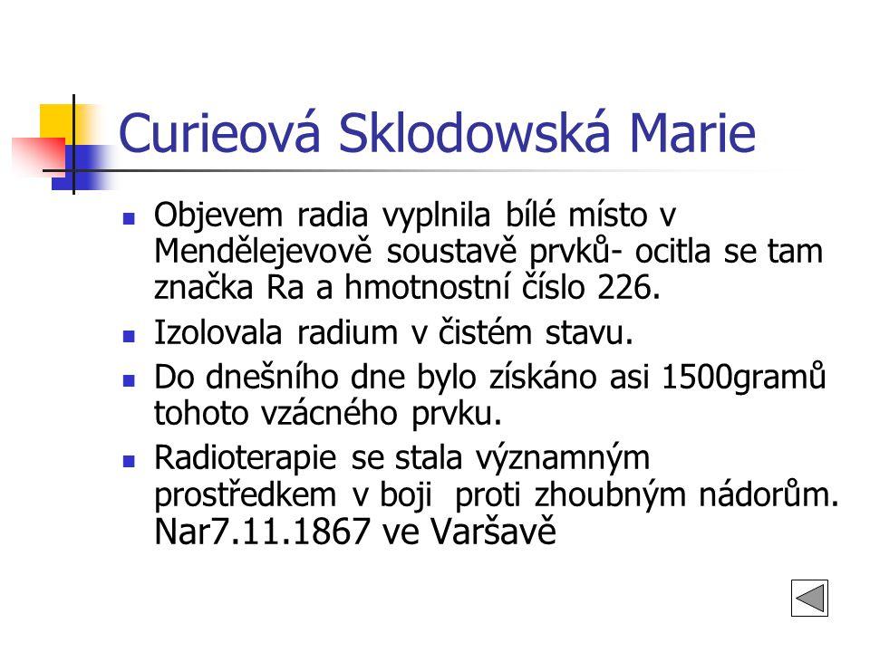Curieová Sklodowská Marie