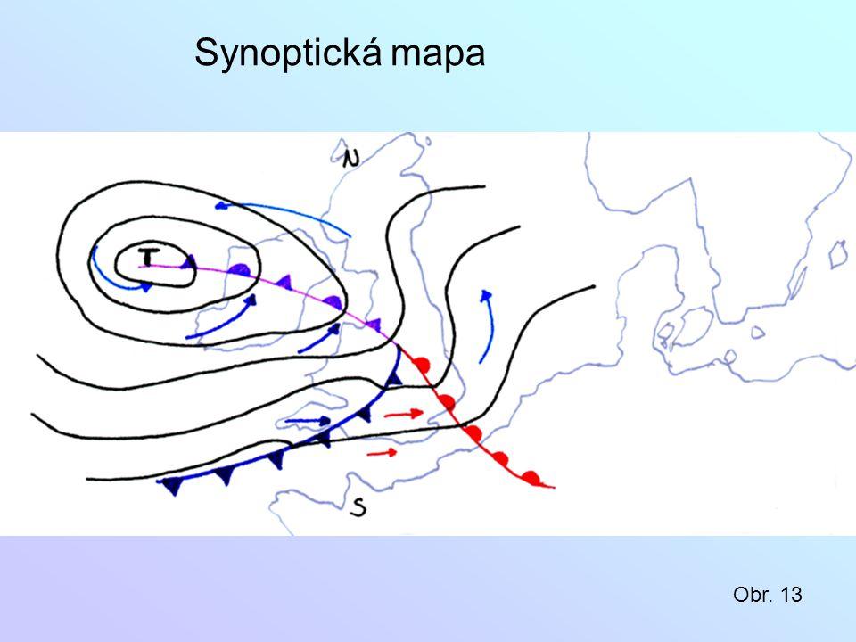 Synoptická mapa Obr. 13