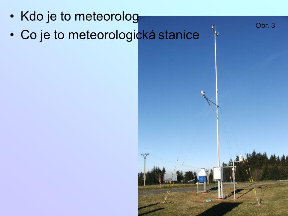 Co je to meteorologická stanice