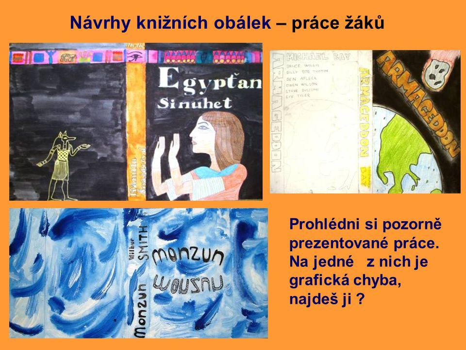 Návrhy knižních obálek – práce žáků