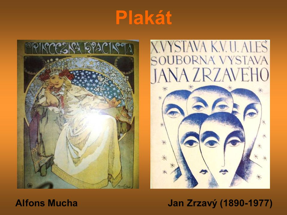 Plakát Alfons Mucha Jan Zrzavý (1890-1977)