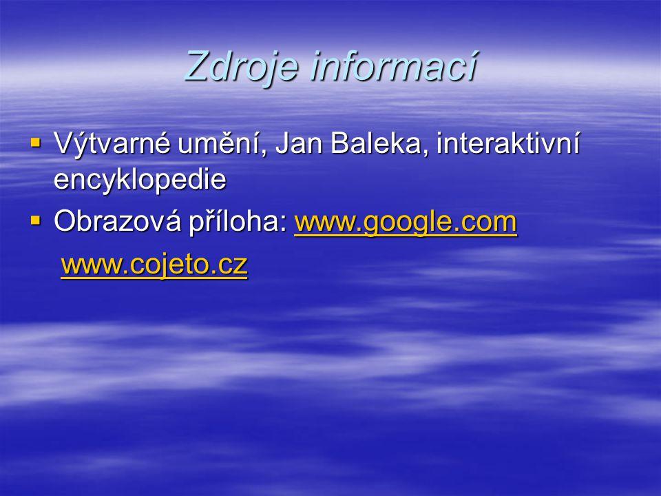 Zdroje informací Výtvarné umění, Jan Baleka, interaktivní encyklopedie