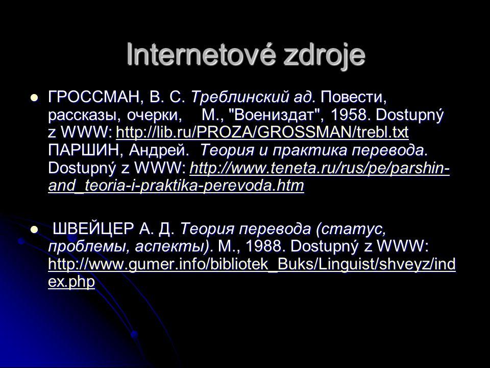 Internetové zdroje