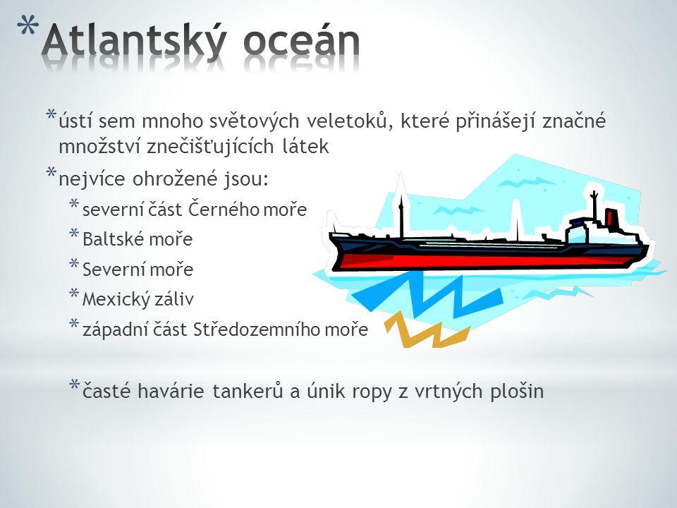 Atlantský oceán ústí sem mnoho světových veletoků, které přinášejí značné množství znečišťujících látek.