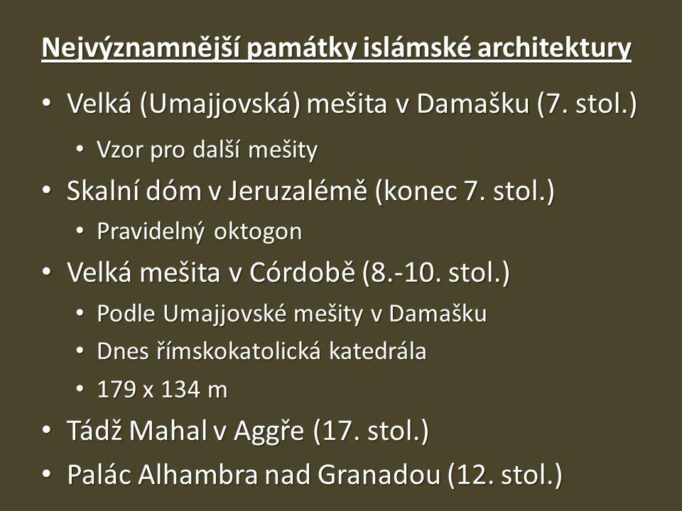 Nejvýznamnější památky islámské architektury