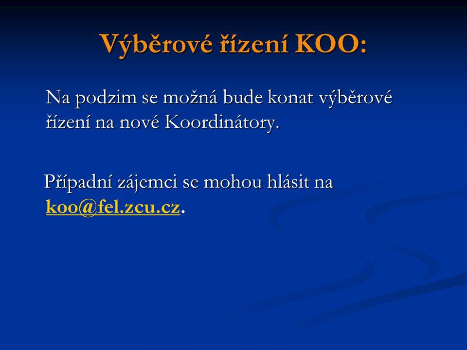 Výběrové řízení KOO: Na podzim se možná bude konat výběrové řízení na nové Koordinátory.