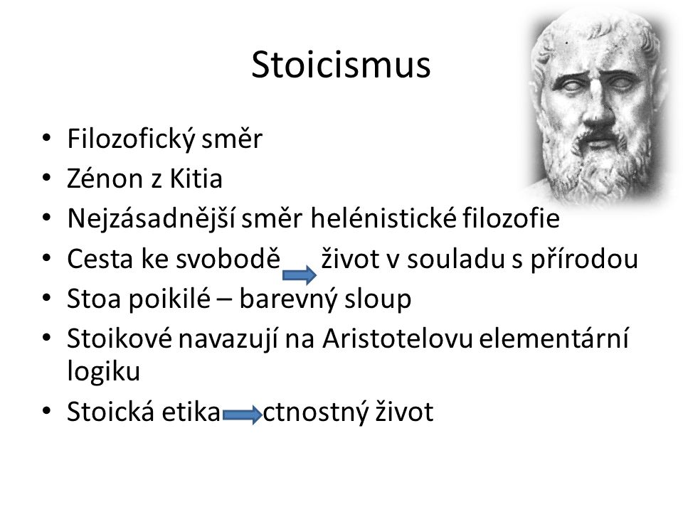 Stoicismus Filozofický směr Zénon z Kitia