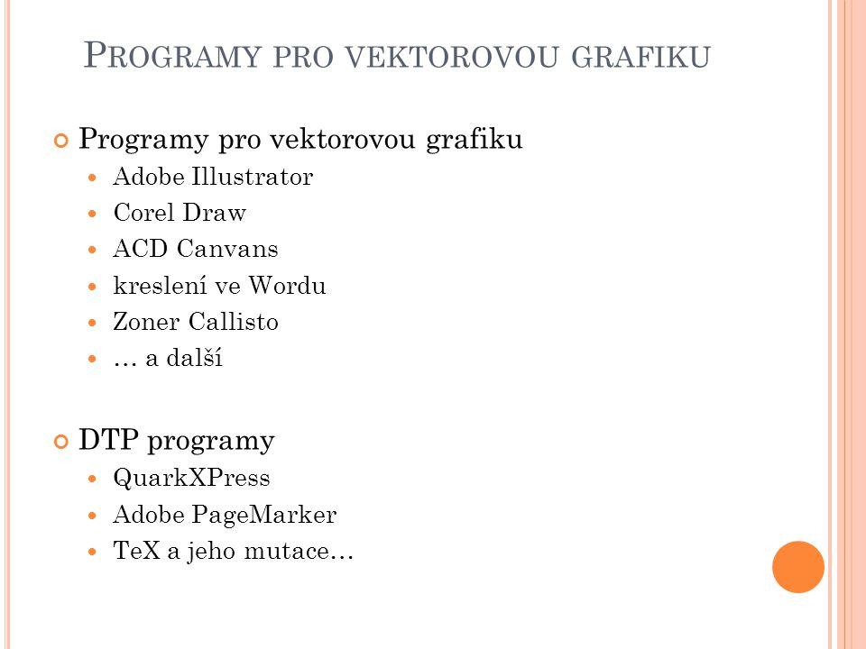 Programy pro vektorovou grafiku