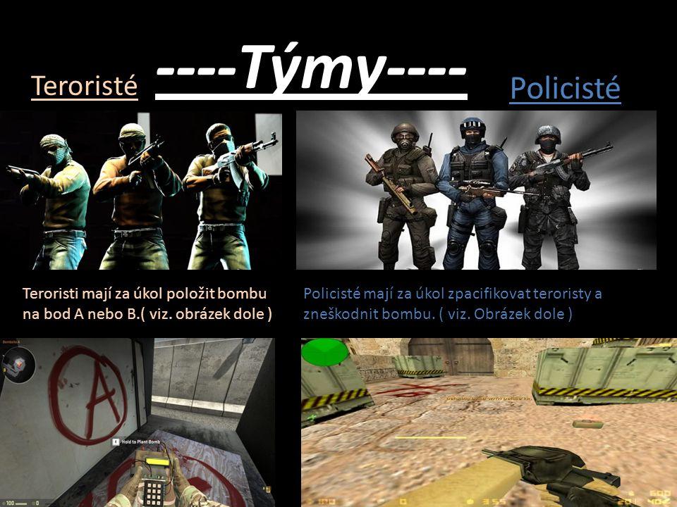 ----Týmy---- Policisté Teroristé