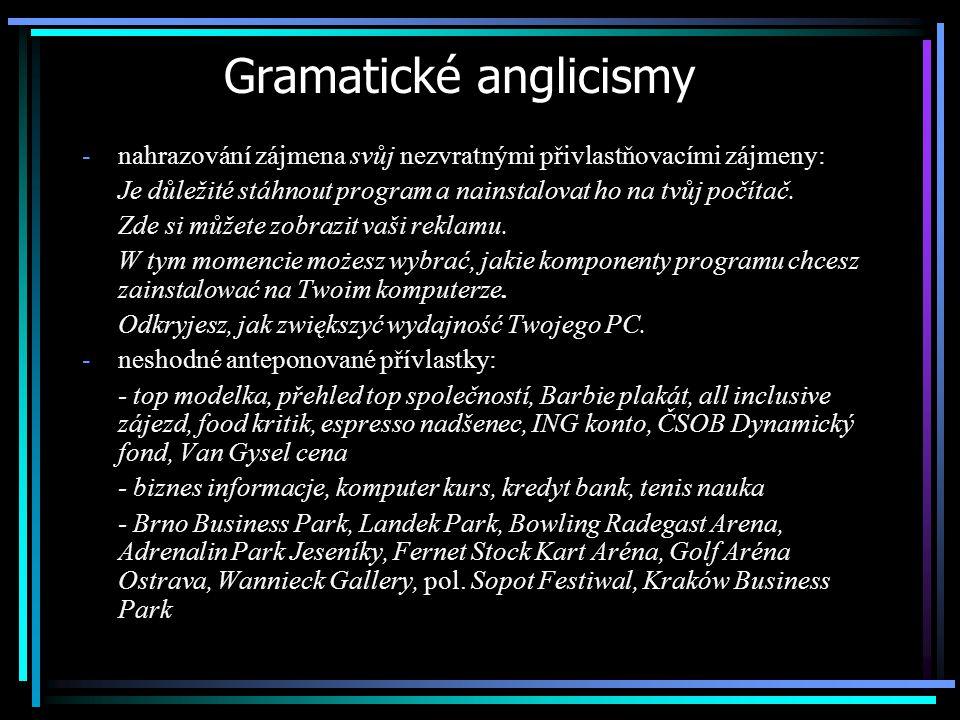 Gramatické anglicismy