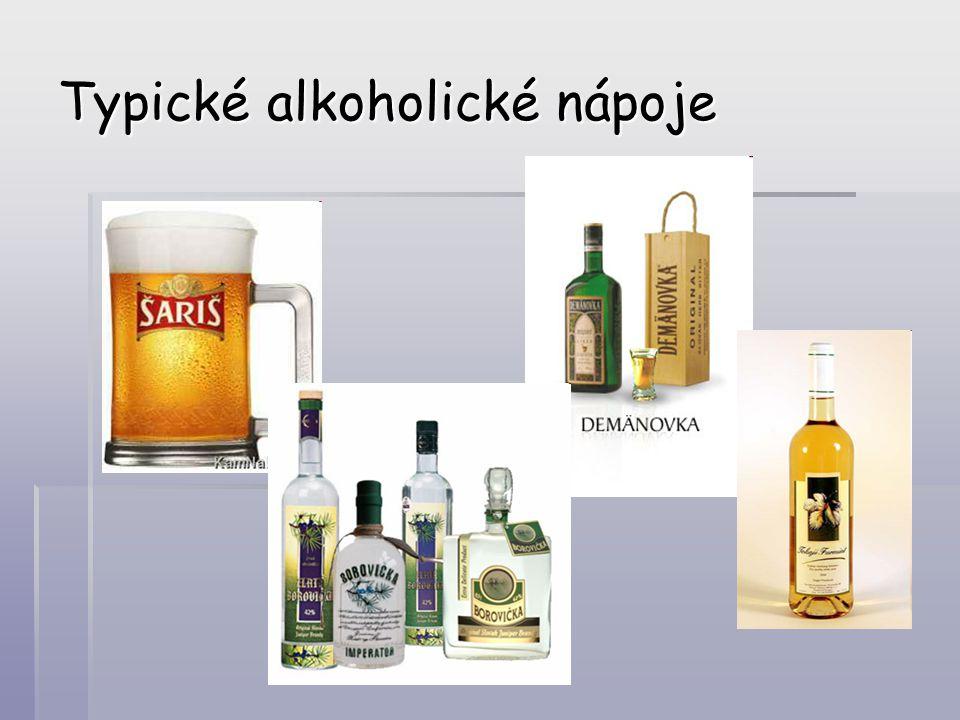 Typické alkoholické nápoje