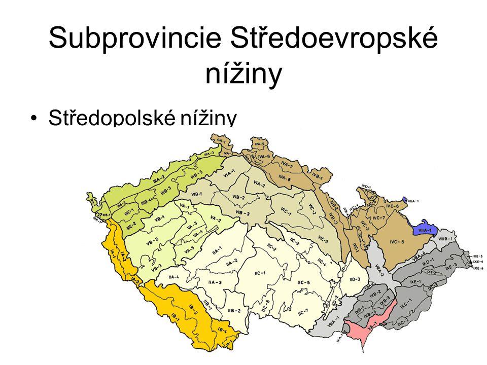 Subprovincie Středoevropské nížiny
