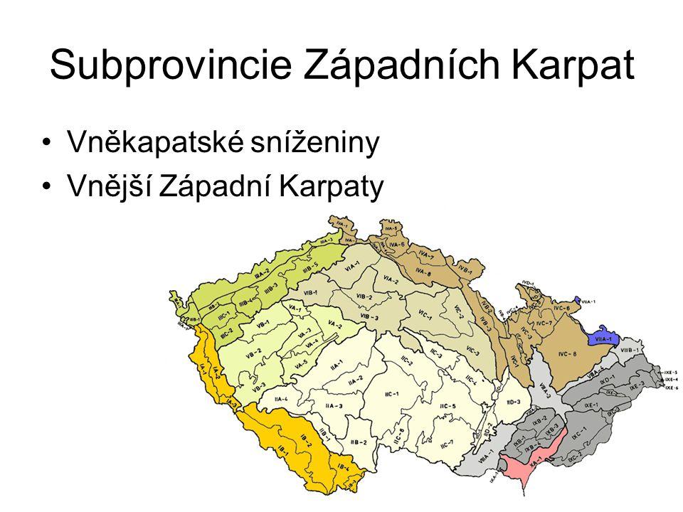 Subprovincie Západních Karpat
