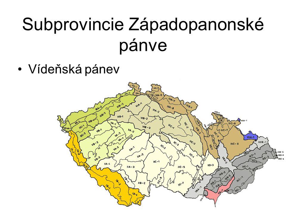 Subprovincie Západopanonské pánve