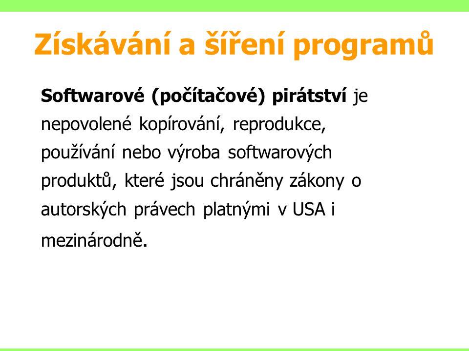 Získávání a šíření programů