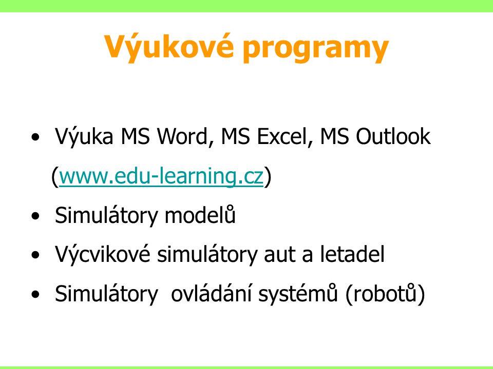 Výukové programy Výuka MS Word, MS Excel, MS Outlook