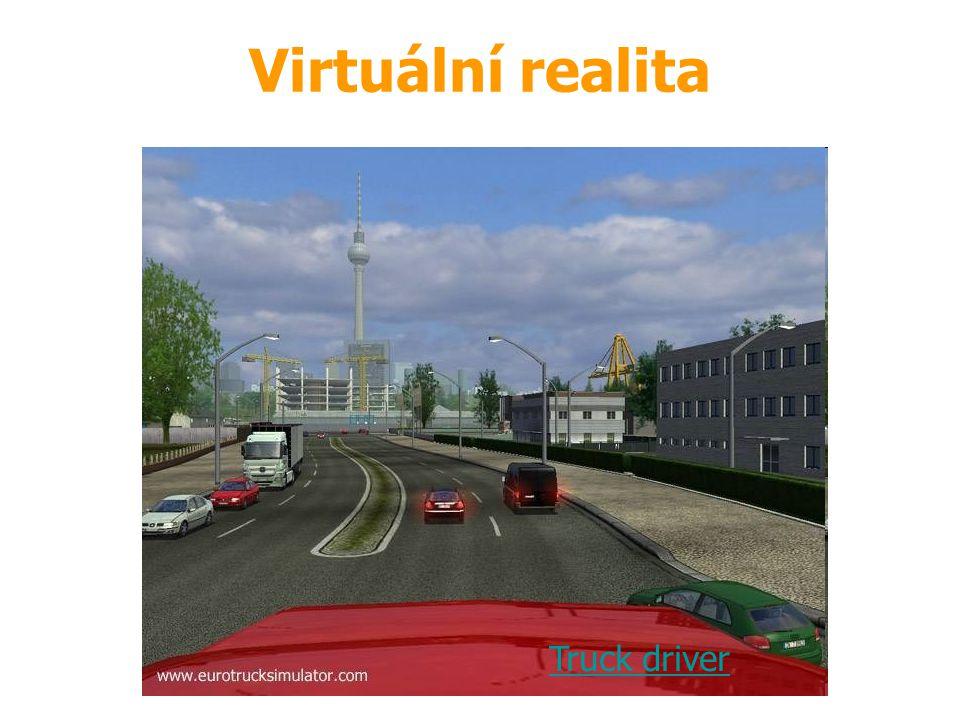 Virtuální realita Truck driver Zdroj: demohry