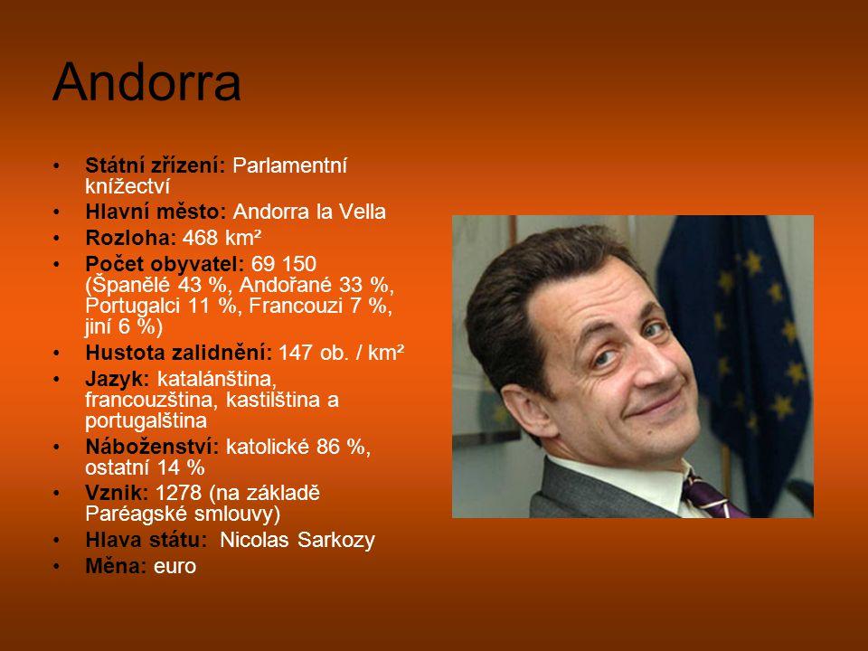 Andorra Státní zřízení: Parlamentní knížectví