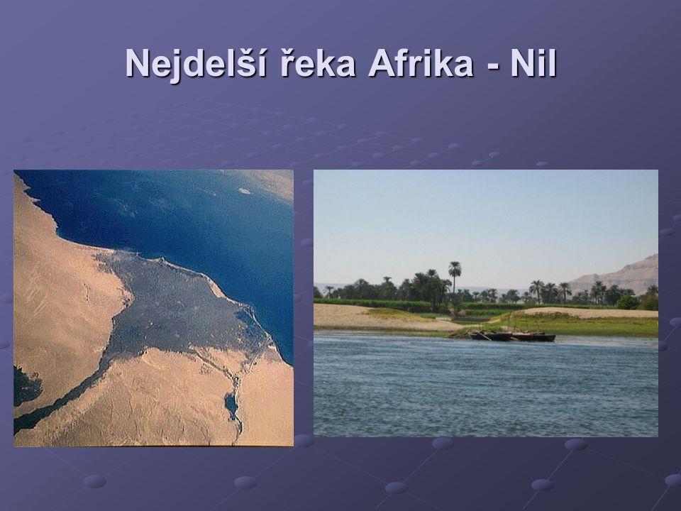Nejdelší řeka Afrika - Nil