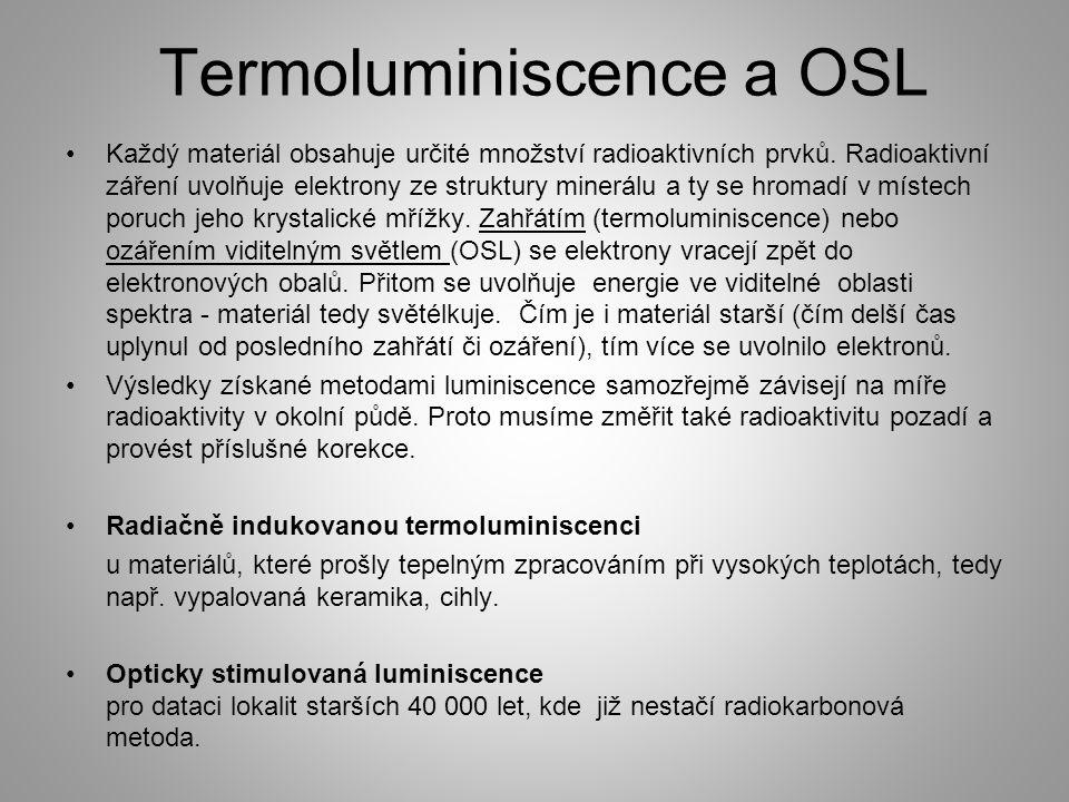 Termoluminiscence a OSL