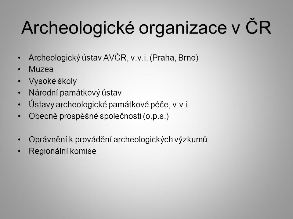 Archeologické organizace v ČR