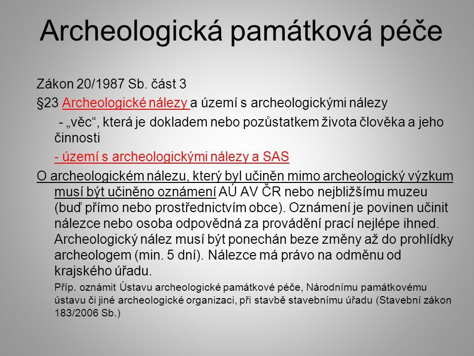 Archeologická památková péče