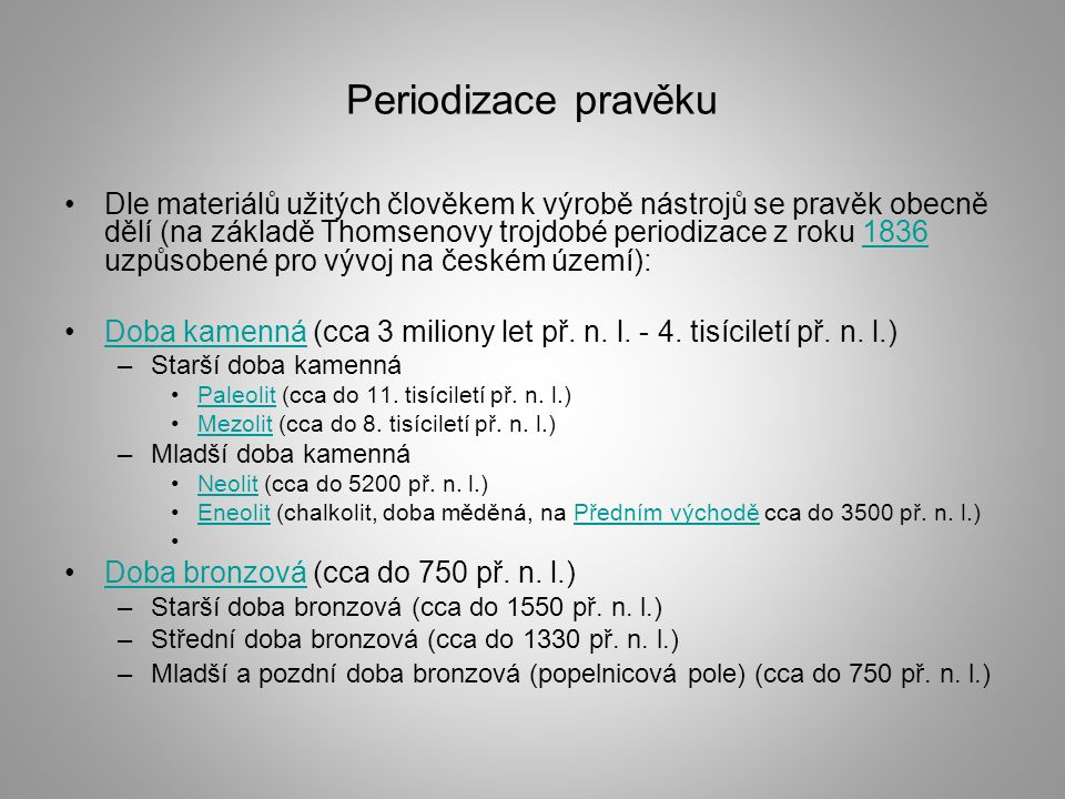Periodizace pravěku