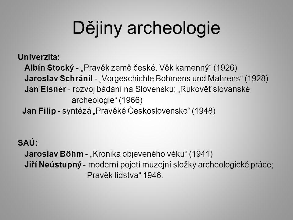Dějiny archeologie Univerzita: