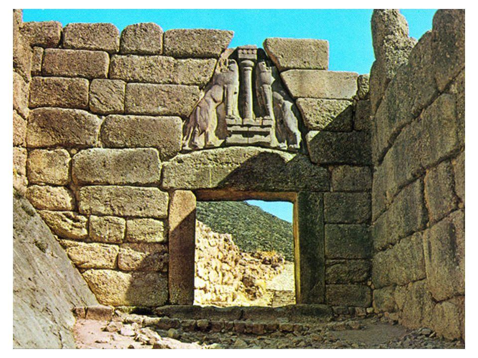 Lví brána v Mykénách: dominují argejské rovině, vůdčí město Agolidy, silný ekonomický význam.