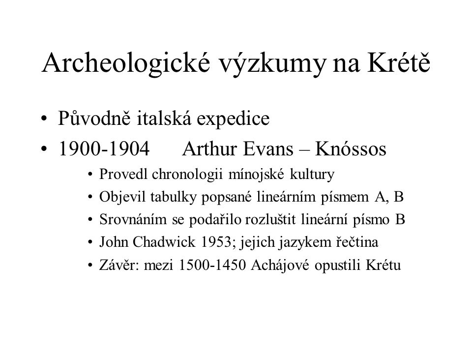 Archeologické výzkumy na Krétě