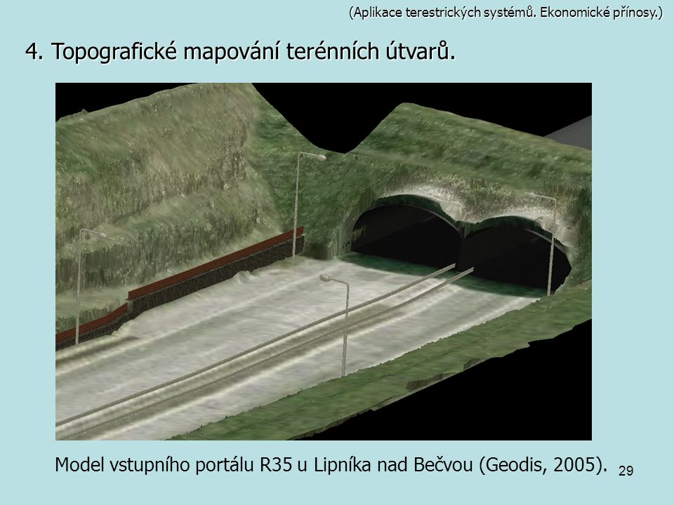 Model vstupního portálu R35 u Lipníka nad Bečvou (Geodis, 2005).