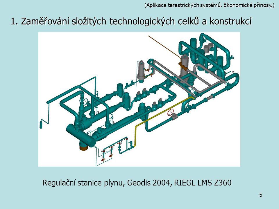 Regulační stanice plynu, Geodis 2004, RIEGL LMS Z360