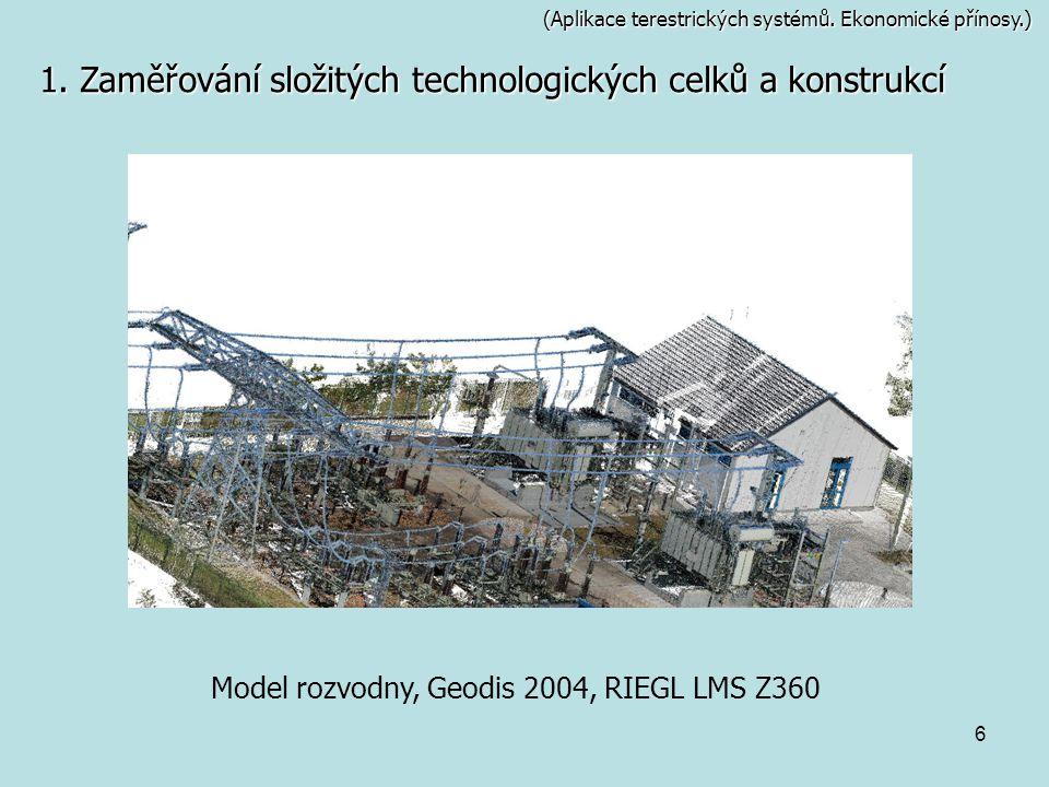 Model rozvodny, Geodis 2004, RIEGL LMS Z360